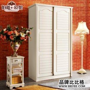 板式田园简易儿童小衣柜移门1米木质欧式实木衣柜